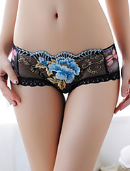 Femme Jacquard Shorts & Slips Garçon / Sous-vêtements Ultra Sexy / Sans coutureCoton / Dentelle / Maille / Polyester