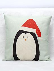 Cotton Linen Christmas Cartoon Printed Throw Pillow Case Cushion Cover Santa Claus Snowman Reindeer Decoration