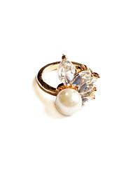 Women's Fashion Rhinestone Pearl Ring