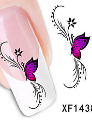 1 PCS 3D Water Transfer Printing Nail Stickers XF1438
