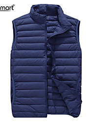 Lesmart Men's Fall Winter Business Casual Light Easy-Carrying Outerwear Solid Leisure Sport Duck Down Vest