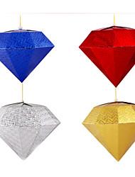 3D Diamond Paper Lantern Lampshade Decor For Christmas Party 30 CM (Random Color)