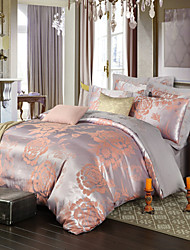 Royal Retro Style Grey Jacquard Bedding Set 4-Piece