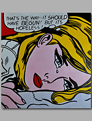 Hand-Painted Oil Painting on Canvas Home Deco Pop Art Beautiful Girls Lady One Panel Ready to Hang