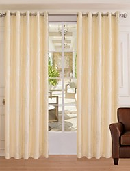 One Panel Modern Beige Jacquard Darking Curtain Bedroom Window Curtain Drape