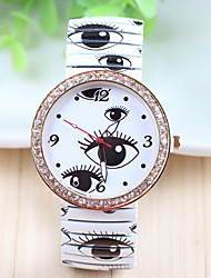 Woman's Watch South Korea's Popular Personality Big Eyes Printed Elastic Table Woman Fashion Spring Table
