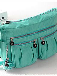 Feminino Náilon Bolsa de Ombro Roxo / Azul / Verde / Vermelho / Preto