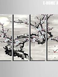 E-HOME® Samuume Clock in Canvas 4pcs