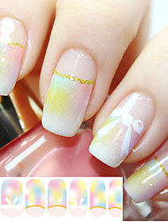 1 PCS  Glitter Nail Polish Pink Bow Full Stickers Stickers