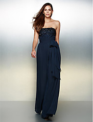 A-Line Strapless Floor Length Chiffon Formal Evening Dress with Beading by TS Couture®