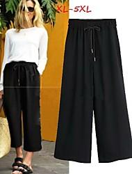 DONNE - 9/10 pantaloni - Informale A vita medio-alta - Largo Poliestere