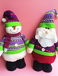 "45CM/17.7"" 3pcs/set Christmas Decoration Gift Standing Santa Claus / Snowman / Reindeer Doll Plush Toy New Year Gift"