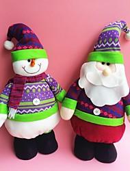 """45cm / 17.7 """"3pcs / set Weihnachtsdekoration Geschenk stehend Weihnachtsmann / Schneemann / Rentier doll Plüschtier Geschenk des neuen"""