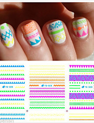 11 pcs Mixed  line Nail Sticker