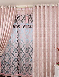 Two Panels European Contracted Fashion New High-Grade Jacquard Restaurant Bedroom Curtains