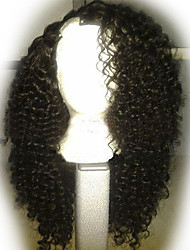 "Unprocessed 10""-24""Virgin Brazilian Hair Natural Color Curly 130% Density U Part Wig Right Side Part Curly Wigs"