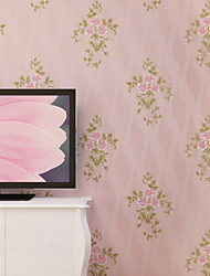 Contemporary Wallpaper Art Deco 3D Garden Flower Wallpaper Wall Covering Non-woven Fabric Wall Art