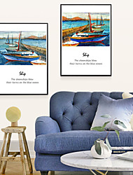 Canvas Print with Frame for Ocean Style--Sea breeze 2pcs/set