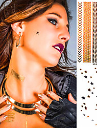 Gold And Silver Bracelets Tattoo Fashion Temporary Tattoo Stickers Temporary Body Art Waterproof Tattoo Pattern HC5002