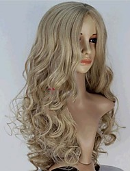2015 New Movie Princess Cinderella Wig Long Curly Blonde Anime Cosplay Wig+a wig cap