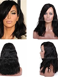 10A Premierwigs 8''-28'' Kardashian Wavy Brazilian Virgin Full Lace Human Hair Wigs Natural Color Soft Lace Front Wigs