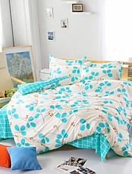 mingjie® folhas rebeldes rainha azul e branco e twin tamanho cama 4pcs conjuntos lixar para meninos e meninas roupa de cama china