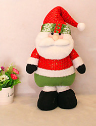 "50CM/19.7"" Christmas Decoration Gift Standing Santa Claus Doll Plush Toy New Year Gift"