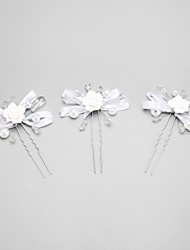 Women's / Flower Girl's Alloy / Imitation Pearl Headpiece - Wedding / Special Occasion Hair Pin 3 Pieces