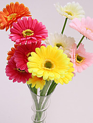 Glass Flower Arranging Polyester Daisies Artificial Flowers