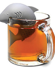 Silicone Shark Tea Infuser Loose Leaf Tea Strainer Herbal Spice Filter