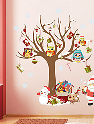 Christmas Oversized two  Plane Wall Stickers  Wall Decor , PVC Removable