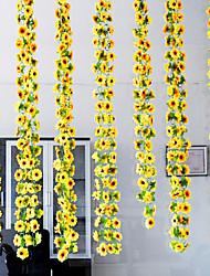 Seide / Kunststoff / Rattan Sonnenblumen Künstliche Blumen