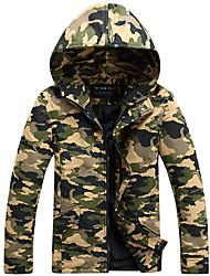 Men's Hooded Camouflage Coat Jacket