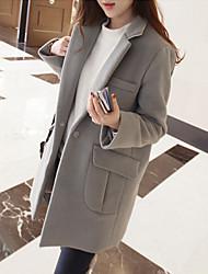 DONNE - Giacche e cappotti - Sexy / Informale / Lavoro Rigido - Maniche lunghe Punto roma