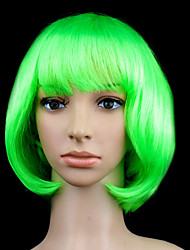 Sweet Girl Bob Green Synthetic Fiber Women's Halloween Party Wig