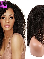 Fashion Smail Curly Indian Remy Human Hair 130% Density Full Lace Wig With Baby Hair For Black Women