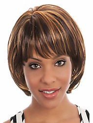 nouvelle bang style de favori de Bob courte perruque cheveux syntheic extensions fille