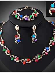 May Polly  Sales in Europe and America Gem Necklace Earrings Ring Bracelet Set