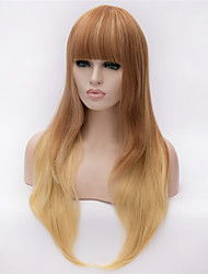 Fashion Hit Europe And The United States Golden Color Gradient Natural Curly Hair Wig