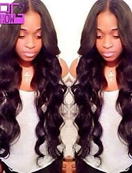 frente perucas onda do corpo brasileiro do cabelo humano do laço 26inch 130% laço do cabelo humano perucas mulheres negras