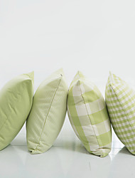 Green Plaid  Pillow With Insert