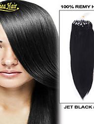 """18 """"20"""" 22 """"24"""" 26 """"28"""" extensions de cheveux anneau de micro humaine enchevêtrement vrais cheveux micro extensions de perles gratuits"""