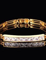 Goud / Zilver / Cubic Zirconia / Legering Dames Chain Armbanden Cubic Zirconia