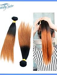 sin procesar 7a pelo ombre peruano teje 4pieces mucho peruana del pelo humano de dos cabellos tres tonos recta omber pelo