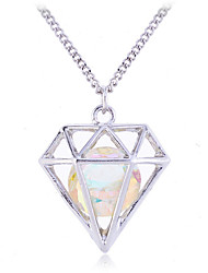 Women's Pendant Necklaces Crystal Gemstone Crystal Alloy Fashion Silver Golden Jewelry Party Daily Casual 1pc