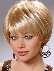 Lovely Carefree Short Human Virgin Remy Hand Tied Top Female Capless Wigs