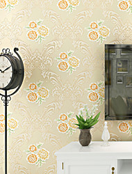 Contemporary Wallpaper Art Deco 3D Romantic Flower Wallpaper Wall Covering Non-woven Fabric Wall Art