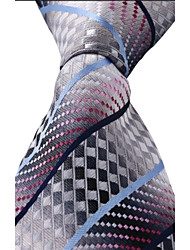 Classic Jacquard Woven Silk Men Leisure Colored Necktie Tie