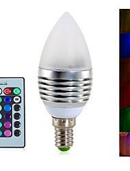 Ywxlight® 1pcs e14 4w 3 integrano led 300-350lm rgb dimmable principali lampadine candele ac 85-265v
