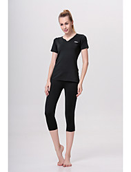 Yoga Clothing Sets/Suits Pants + Tops Breathable / Lightweight Materials / Stretch / Sweat-wicking / Softness High Elasticity Sports Wear